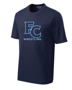 PosiCharge RacerMesh Short Sleeve Tee / Navy / FC Wrestling