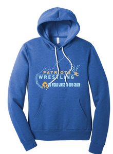 Unisex Sponge Fleece Pullover Hoody / Heather Royal / FC Wrestling