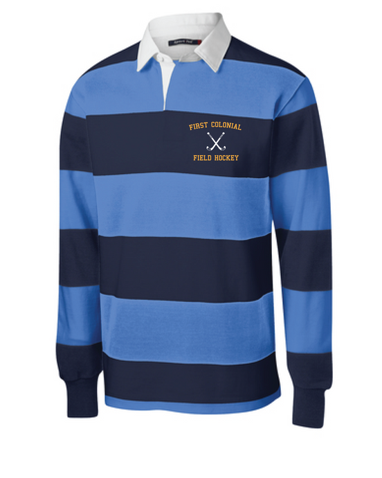 Classic Long Sleeve Rugby Polo / True Navy & Carolina Blue / FC Field Hockey - Fidgety