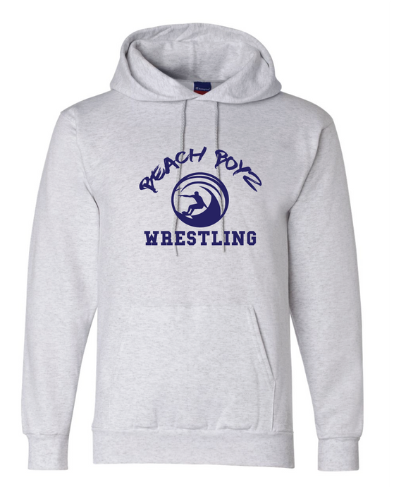 Core Fleece Hooded Sweatshirt / Ash Gray / Beach Boyz Wrestling