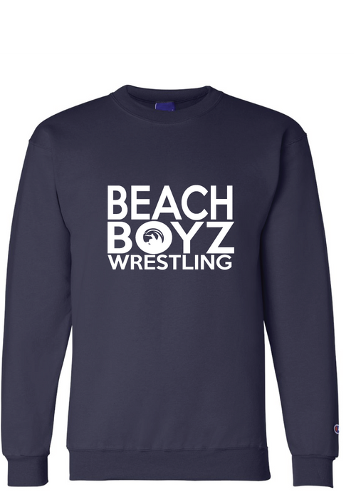 Fleece Crew Neck Sweatshirt / Navy / Beach Boyz Wrestling