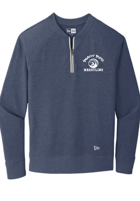 Sueded Cotton Blend 1/4-Zip Pullover / Heather Navy / Beach Boyz