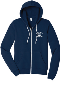 Sponge Fleece Full Zip Hooded Sweatshirt / Navy / Beach Boyz