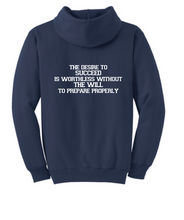 Core Fleece Hooded Sweatshirt (Youth & Adult) / Heather Navy / Beach Boyz Wrestling