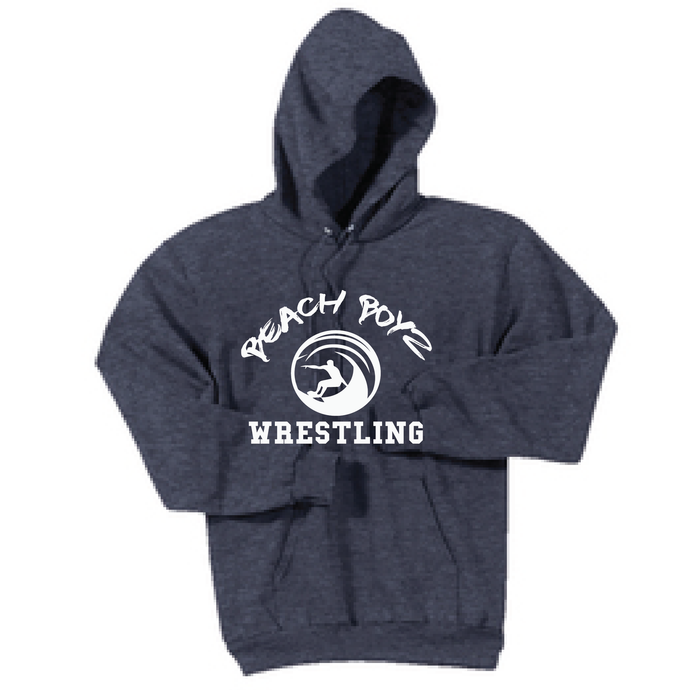 Core Fleece Hooded Sweatshirt / Heather Navy / Beach Boyz Wrestling - Fidgety