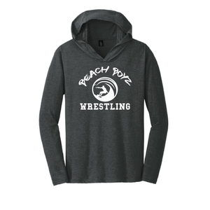 Triblend Long Sleeve Hoodie / Black Frost / Beach Boyz Wrestling - Fidgety