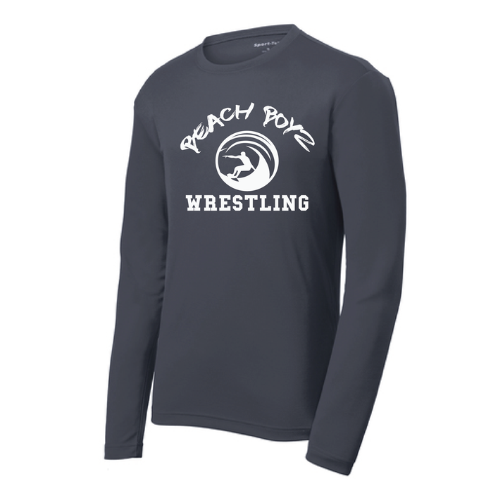 PosiCharge RacerMesh Long Sleeve Tee / Graphite Gray / Beach Boyz Wrestling - Fidgety