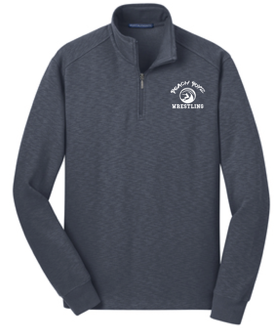 Performance Fleece 1/4-Zip Pullover Sweatshirt / Navy / Beach Boyz - Fidgety