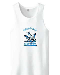 Men's Blended Jersey Tank Tank / White / Broad Bay Swim - Fidgety