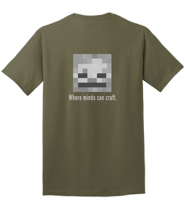 Cotton Short Sleeve T-Shirt / Dark Green / IMS Minecraft Club