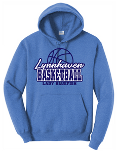 Fleece Hooded Sweatshirt / Heather Royal / Lynnhaven Girls Basketball