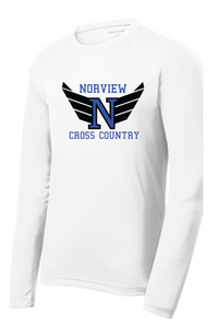 Long Sleeve Performance Tee / White / Norview CC - Fidgety