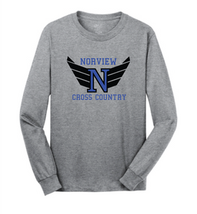 Softstyle Long Sleeve T-Shirt / Sport Gray / Norview CC - Fidgety