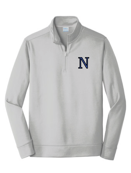 Performance Fleece 1/4-Zip Pullover Sweatshirt / Silver / Norview CC - Fidgety