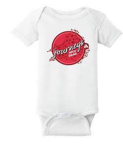 Infant Short Sleeve Baby Rib Bodysuit / White / CHKD NICU - Fidgety