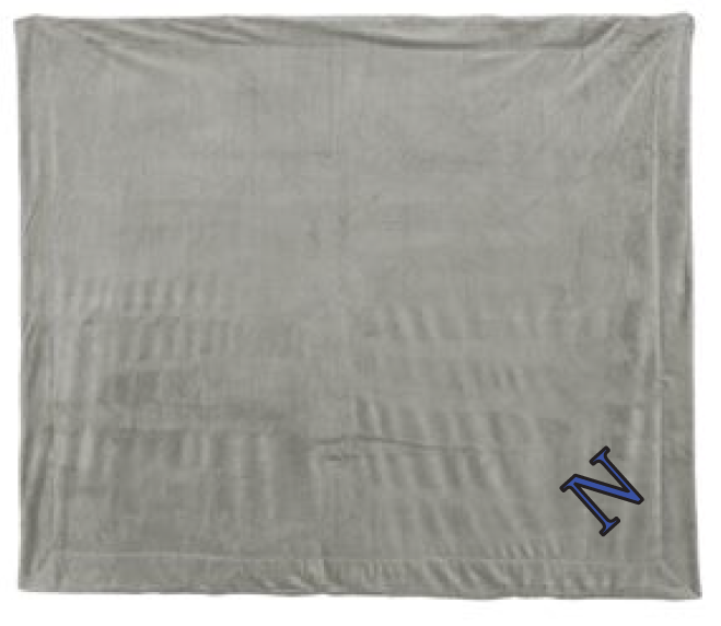 Large Sherpa Blanket / Gray / Norview Swim