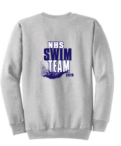 Crew neck Sweatshirt (Youth & Adult) / Ash Gray /Norview Swim
