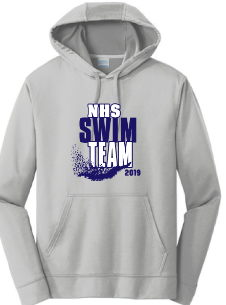 Performance Hooded Sweatshirt / Silver / Norview Swim