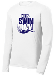 Dri-fit Performance Long Sleeve Shirt / White / Norview Swim