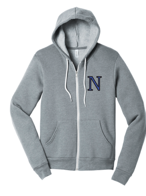 Sponge Fleece Full-Zip Hoodie / Athletic Heather / Norview Swim