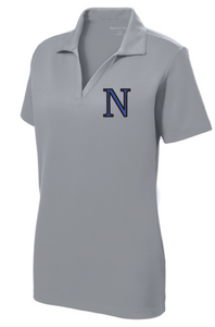 Ladies PosiCharge RacerMesh Polo / Silver / Norview Swim