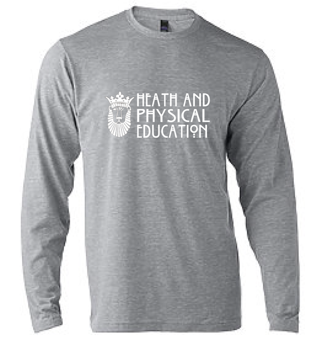 Unisex Poly-Rich Blend Long Sleeve T-Shirt / Grey Heather / ODU HPE - Fidgety