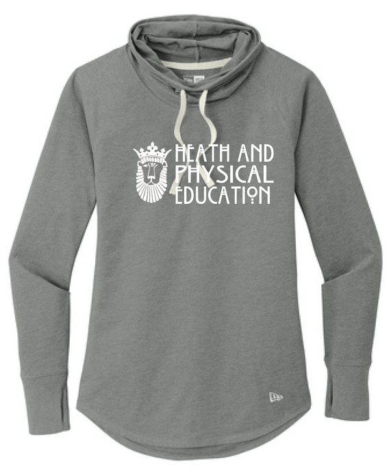 Ladies Sueded Cotton Blend Cowl Tee / Heather Grey / ODU HPE - Fidgety