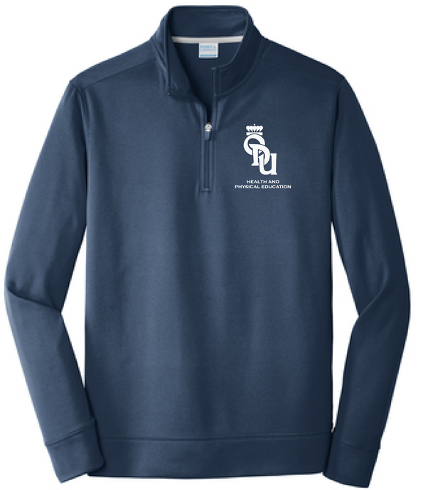1/4 Zip Performance Pullover / Deep Navy / ODU HPE - Fidgety