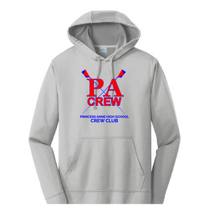 Performance Fleece Pullover Hooded Sweatshirt / Silver / Princess Anne HS Crew