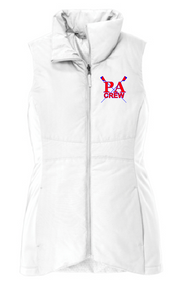 Ladies Collective Insulated Vest / White / Princess Anne HS Crew
