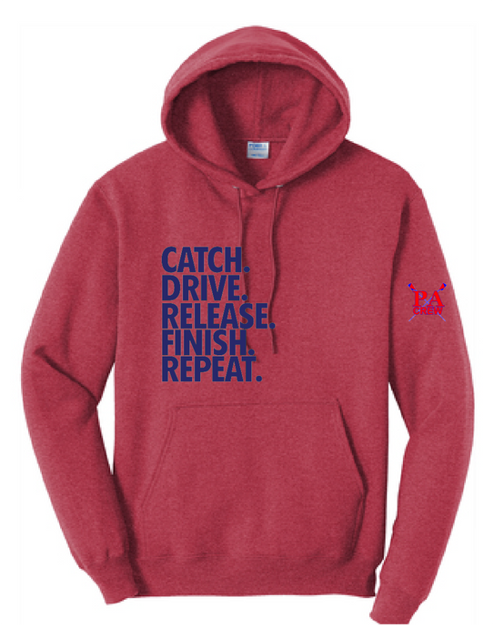 Core Fleece Pullover Hooded Sweatshirt / Heather Red / Princess Anne HS Crew