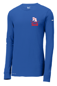 Nike Dri-FIT Cotton/Poly Long Sleeve Tee / Royal / Princess Anne High School Soccer