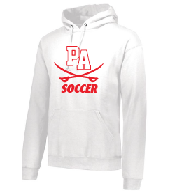 Performance Fleece Pullover Hooded Sweatshirt / White / Princess Anne High School Soccer