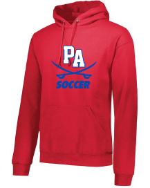 Performance Fleece Pullover Hooded Sweatshirt / Red / Princess Anne High School Soccer