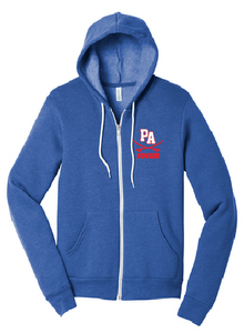 Sponge Fleece Full-Zip Hoodie / Heather Blue / Princess Anne High School Soccer