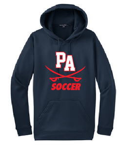 Performance Fleece Pullover Hooded Sweatshirt / Navy / Princess Anne High School Soccer