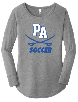 Women's Perfect Triblend Long Sleeve Tunic Tee / Gray Frost / Princess Anne High School Soccer
