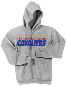 PA Cavaliers Fleece Hooded Sweatshirt / Ash Gray / Princess Anne HS - Fidgety