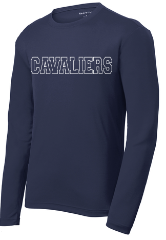 Dri-fit Performance Long Sleeve Shirt / Navy / Princess Anne High School Soccer