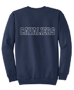 Crew Neck Sweatshirt / Heather Navy / Princess Anne High School Soccer