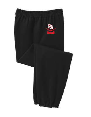 Cinch Bottom Fleece Sweatpants / Black / Princess Anne High School Soccer