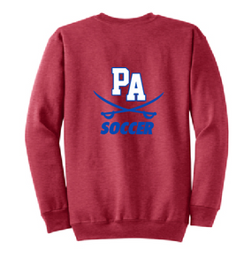 Cavaliers Crew Neck Sweatshirt / Heather Red / Princess Anne High School Soccer