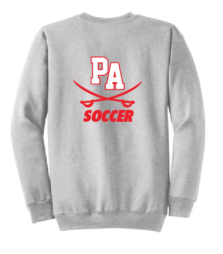 Crew Neck Sweatshirt / Ash / Princess Anne High School Soccer