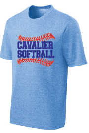 PosiCharge RacerMesh Performance Tee / True Royal Heather / PAHS Softball