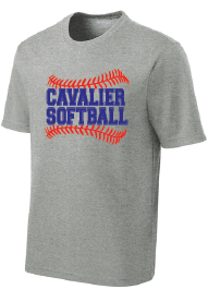 PosiCharge RacerMesh Performance Tee / Grey Heather / PAHS Softball