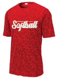 Short Sleeve Digi Camo Tee / Red  / PAHS Softball