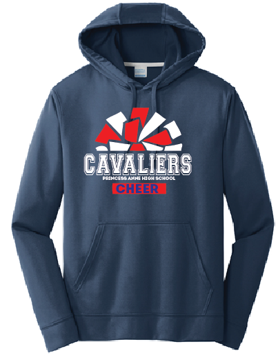 Cheer Pom Performance Hooded Sweatshirt / Navy / Princess Anne HS - Fidgety