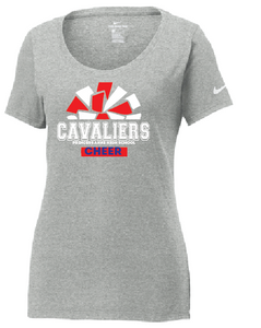 Cavaliers Pom Nike Core Cotton Scoop Neck Tee / Gray / Princess Anne HS - Fidgety