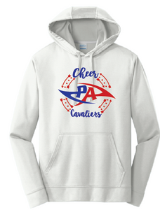 Cheer Performance Hooded Sweatshirt / Silver / Princess Anne HS - Fidgety