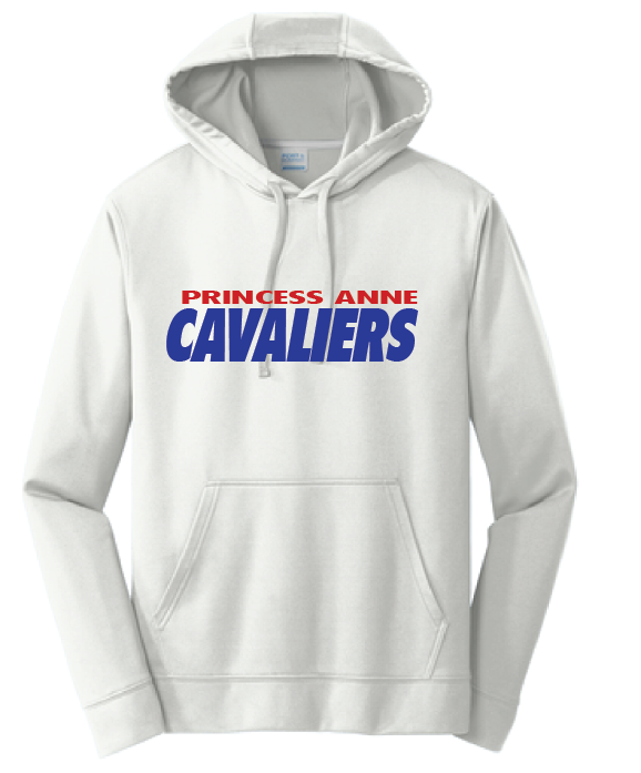 PA Cavaliers Performance Hooded Sweatshirt / Silver / Princess Anne HS - Fidgety